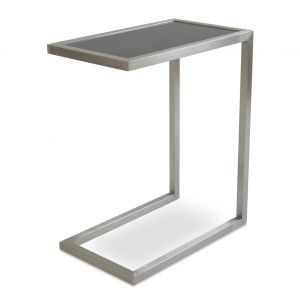 Alfa Glass Top End Table by sohoConcept