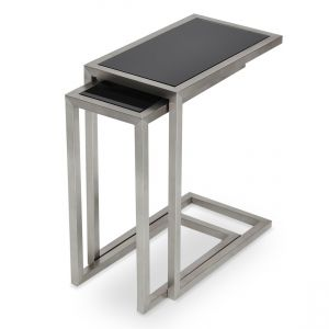 Alfa Glass Top Nesting Table by sohoConcept