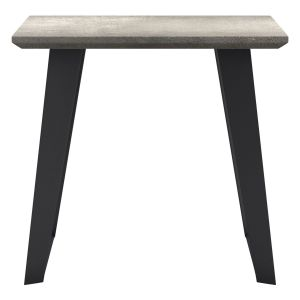 Amsterdam Outdoor Side Table - Grey Concrete on Black Steel