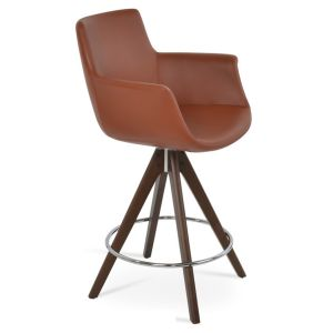 Bottega Arm Pyramid Swivel Stool by sohoConcept