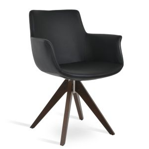 Bottega Pyramid Swivel Armchair by sohoConcept