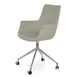 Bottega Spider High Back Swivel Armchair with Casters by sohoConcept