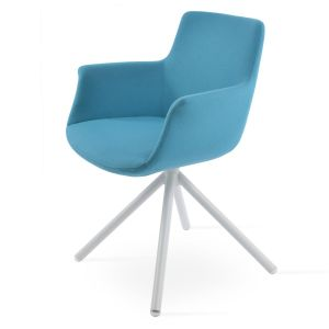 Bottega Stick Swivel Armchair by sohoConcept