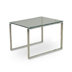 Calvin Glass Top End Table by sohoConcept
