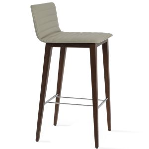 Corona Wood Full Upholstered Stool by sohoConcept