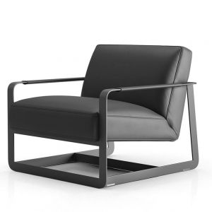Crosby Lounge Chair - Graphite Leather