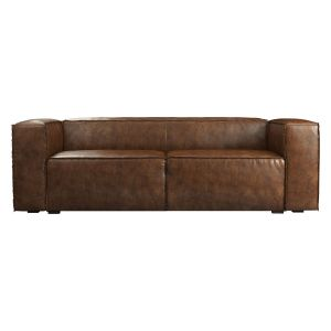 Dominick Sleeper Sofa - Aged Whisky Leather