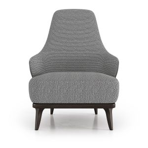 Dyer Lounge Chair - Mixed Marble Fabric