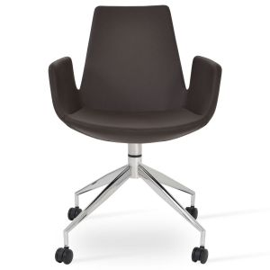 Eiffel Spider Swivel Armchair with Caster by sohoConcept