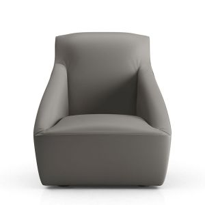 Forsyth Lounge Chair - Warm Grey Leather