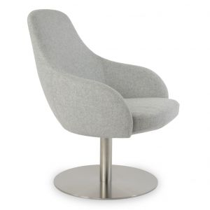Gazel Lounge Round Swivel Armchair by sohoConcept