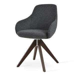 Gazel Pyramid Swivel Armchair by sohoConcept