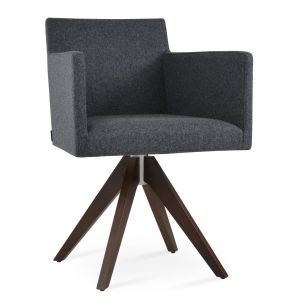 Harput Pyramid Swivel Armchair by sohoConcept