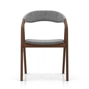 Kaede Dining Armchair - Walnut and Andorra Wool