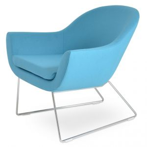 Madison Wire Sled Lounge Armchair by sohoConcept