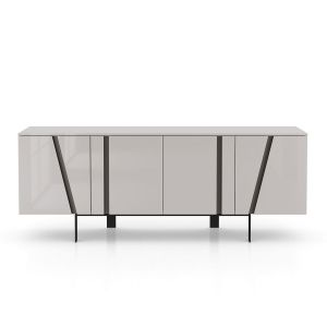 Mott Sideboard - Glossy Chateau Grey Lacquer