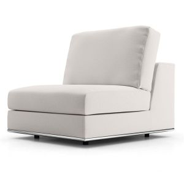 Perry Modular Armless Chair - Chalk Fabric