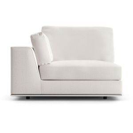 Perry Modular Left Armchair - Chalk Fabric