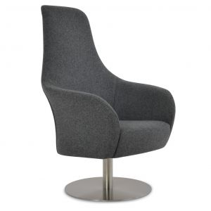 Pierre Loti Lounge Round Swivel Armchair by sohoConcept