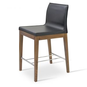 Polo Wood Low Back Stool by sohoConcept