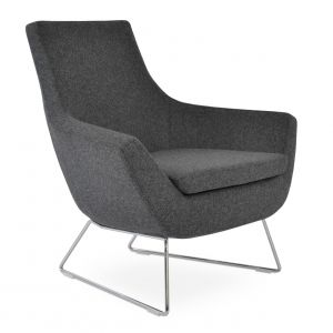 Rebecca Wire Sled Armchair by sohoConcept