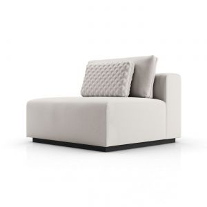 Spruce Modular Armless Chair - Chalk Fabric