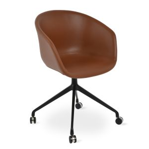 Tribeca Spider Swivel Armchair with Caster by sohoConcept