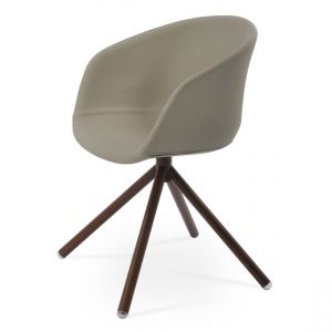 Tribeca Stick Swivel Armchair by sohoConcept