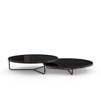 Adelphi Nesting Coffee Tables - Black Glass