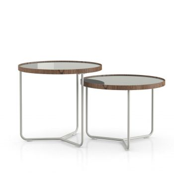 Adelphi Nesting Side Tables - Ice Glass