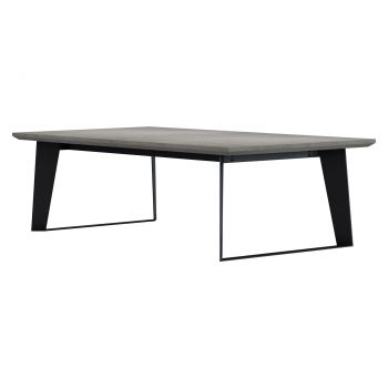 Amsterdam Outdoor Coffee Table - Grey Concrete on Black Steel