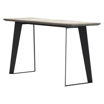 Amsterdam Outdoor Console Table - Grey Concrete on Black Steel