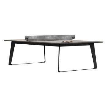 Amsterdam Ping Pong Table - Gray Concrete on Black Steel