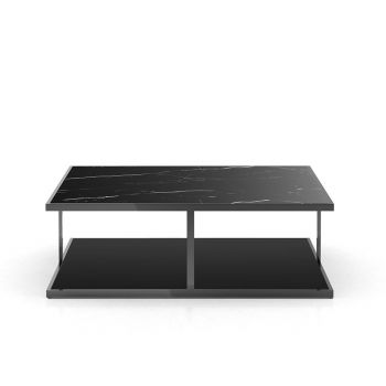 Ann Coffee Table - Matte Black Marble