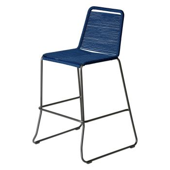 Barclay Bar Stool - Blue Cord