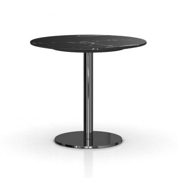 Bleecker Side Table - Matte Black Marble