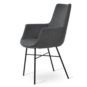 Bottega Cross High Back Armchair by sohoConcept
