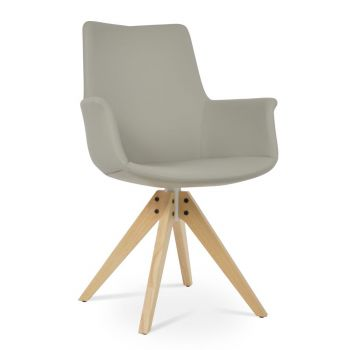 Bottega Pyramid High Back Swivel Armchair by sohoConcept