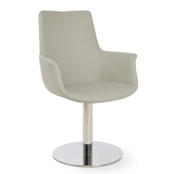 Bottega Round High Back Swivel Armchair by sohoConcept