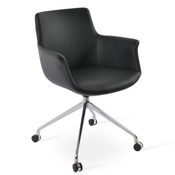 Bottega Spider Swivel Armchair with Casters by sohoConcept