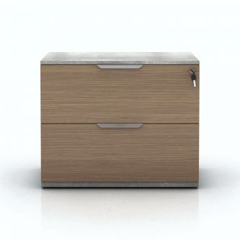 Broome Lateral Filing Cabinet - Latte Walnut