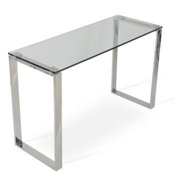 Calvin Glass Top Console Sofa Table by sohoConcept