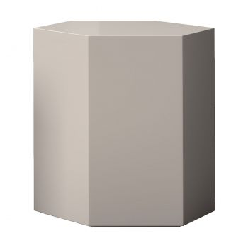 Centre 18in. Occasional Table - Glossy Chateau Grey Lacquer
