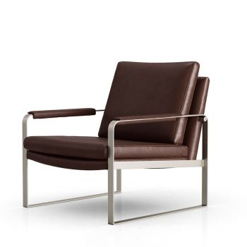 Charles Lounge Armchair - Brunette Vintage Leather