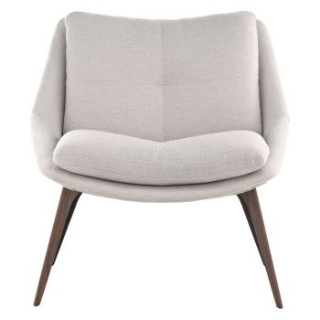 Columbus Lounge Chair - Birch Fabric and Walnut