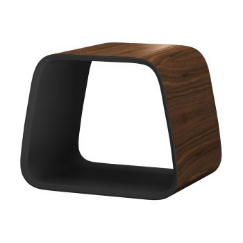 Cowley Stool - Walnut, Interior in Metallic Graphite
