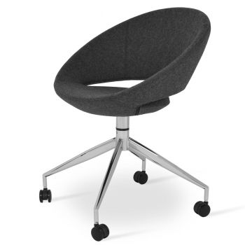 Crescent Spider Swivel Chair with Caster by sohoConcept