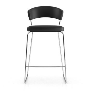 Delancey Bar Stool - Black Eco Leather