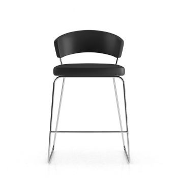 Delancey Counter Stool - Black Eco Leather