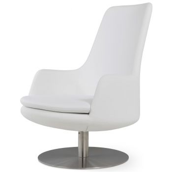 Dervish Lounge High Back Round Armchair by sohoConcept